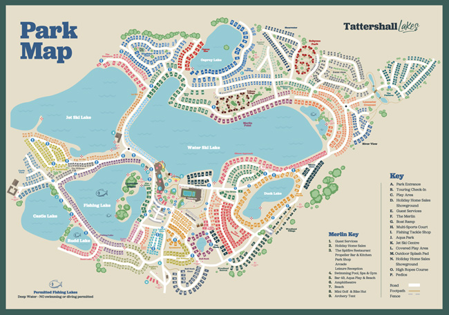 Tattershall Lakes Map 2021, CJ's Holiday Homes